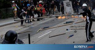 Kerusuhan Kembali Hantam Hong Kong, Polisi Tembakkan Gas Air Mata – Kompas.com – Internasional Kompas.com