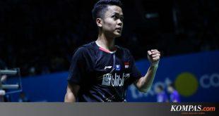 Hong Kong Open 2019, Kalahkan Jonatan Christe, Anthony Ginting ke Final – KOMPAS.com