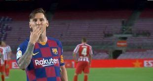 VIDEO – Messi Pamer Trik ala Kapten Tsubasa, Bek Atletico Madrid Keok – Bolasport.com