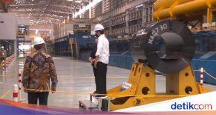 Resmikan Pabrik Baja Canggih di Cilegon, Jokowi: Cuma Ada 2 di Dunia! – detikFinance